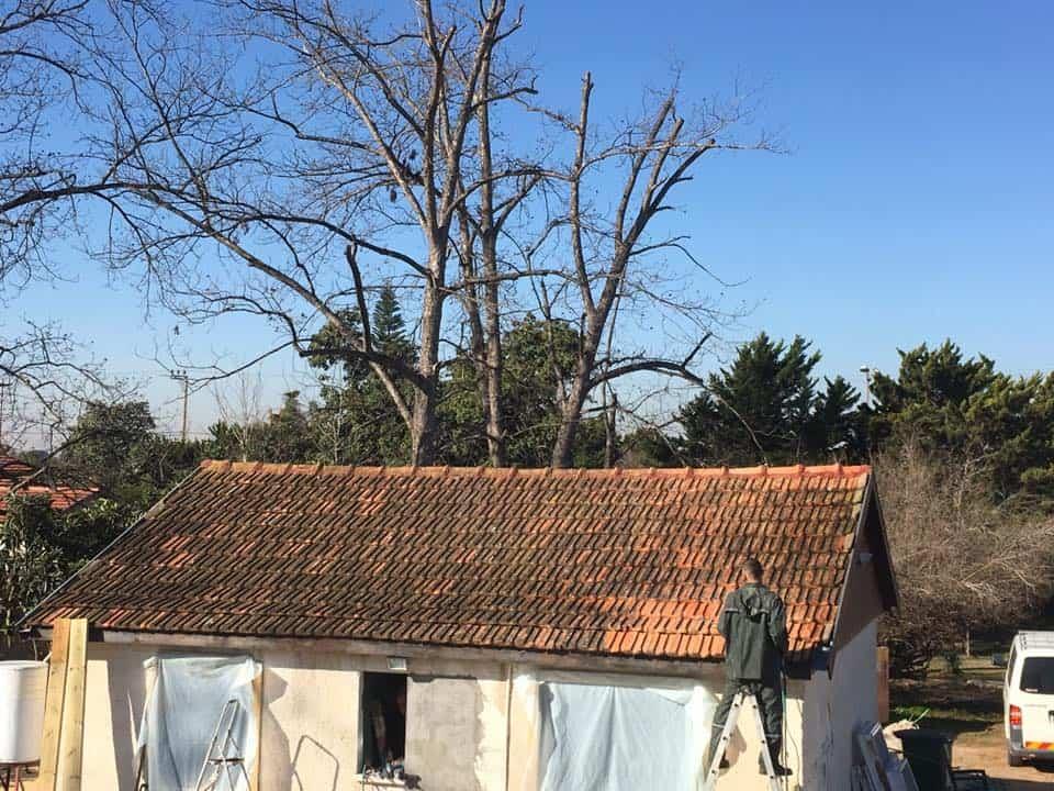 גג רעפים לפני